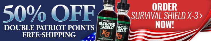 Survival Shield X-3 50% Off 4th Of July Super Sale