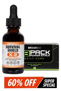 8 Pack Power Stack & Survival Shield X-2 Combo