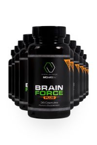 10 bottles of 20% more Brain Force Lined Up