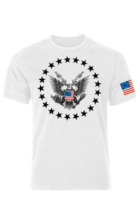 Betsy Ross American Eagle, Not Nazi T-Shirt With Stars
