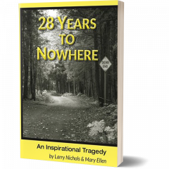 Front cover of 28 Years To Nowhere novel.