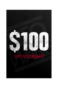 One Time $100 Sponsorship