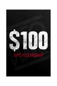 One Time $100 Sponsorship