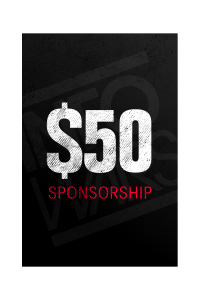 One Time $50 Sponsorship