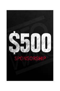 One Time $500 Sponsorship