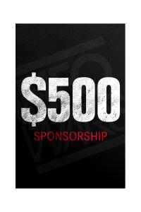 One Time $500 Sponsorship