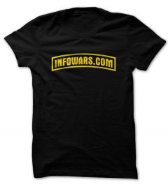 Front view of Infowars Army Style logo T-Shirt