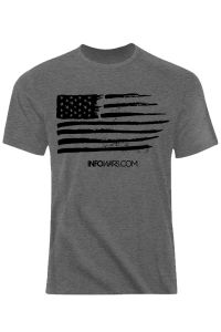 Infowars Distressed Flag T-Shirt