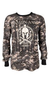Black Long Sleeved Camo Molon Labe T-Shirt