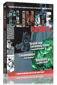 Side view of Climate Hustle DVD