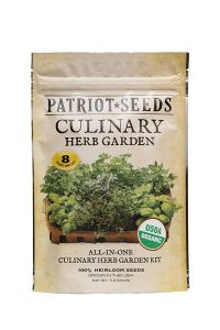 Patriot Seeds Organic Culinary Herb Garden Seed Kit  front view