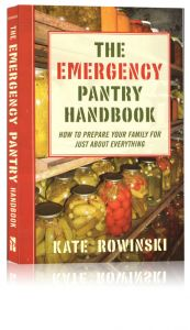 Front cover of The Emergency Pantry Handbook by Kate Rowinski