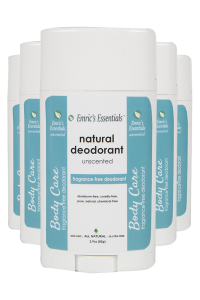 5 bottles of Emric's Essentials Unscented Deodorant for 5-pack