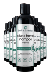 10 bottles of Emric's Essentials Tea Tree Natural Shampoo for 10-pack