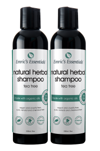 2 bottles of Emric's Essentials Natural Shampoo for 2-pack