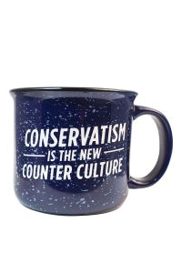 Front view of Conservatism is the New Counter Culture Campfire Mug