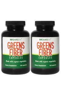 Organic Greens Fiber Caps 2 Pack