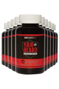 Hair and Beard Support for Men 10 Pack