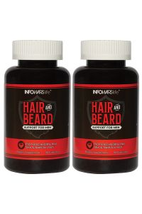 Hair and Beard Support for Men 2 Pack