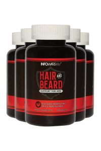 Hair and Beard Support for Men 5 Pack