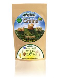 Heirloom Organics Grains Seed Pack bag