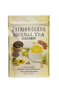 Patriot Seeds Herbal Tea Garden Seed Kit front view