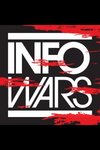 Torn Infowars Red Square Logo Sticker