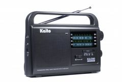 Front view of Kaito KA390 AM/FM/SW and NOAA Band Radio
