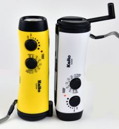 KA404W Dynamo Flashlight Yellow and White