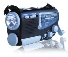 KA888 Dynamo/Solar Powered Shortwave Radio and Flashlight