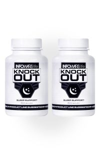 2 bottles of Knockout Supplements lined up next to each other