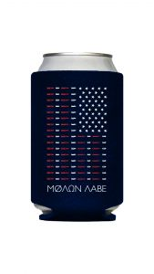 Molon Labe American Flag Bullet Koozie