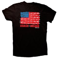 Front of shirt for Legalize Freedom Flag T-Shirt