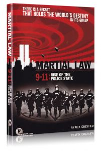 Front cover of Martial Law 9/11: The Rise of the Police State DVD