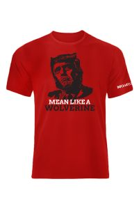 Front View Of Trump Mean Like A Wolverine Shirt