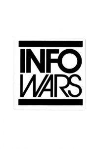 Infowars Small Square White Logo Sticker