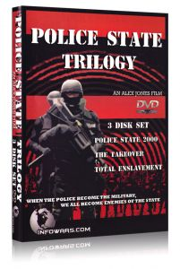 Front cover of the Police State Trilogy DVD