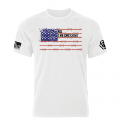 No Trespassing - US Flag Shirt