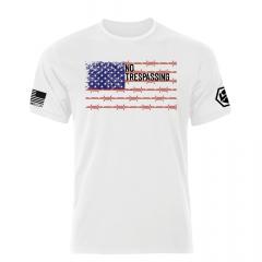 No Trespassing - US Flag Shirt