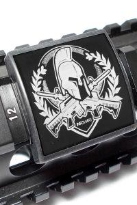 Laser Engraved Custom Gun Rails, By AR Customs
