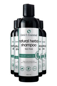 5 bottles of Emric's Essentials Tea Tree Natural Shampoo for 5 pack