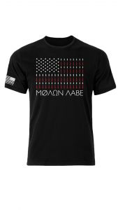 Molon Labe American Flag Bullet Shirt Front
