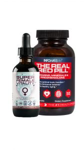 Super Female Vitality and Real Red Pill Bottles for Vitality and Balance Combo
