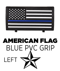 American Flag Blue Line Stars On Left