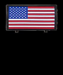 American Flag Color Stars On Left