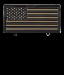 American Flag Tan Stars On Left