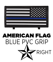 American Flag Blue Line Stars On Right