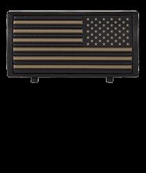 American Flag Tan Stars On Right