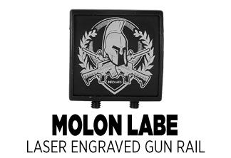 Infowars Molon Labe Laser Engraved Gun Rail